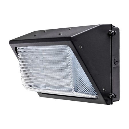 LED 60W Wall Pack Fixture with Photo Sensor (Dusk to Dawn), Phillips Chip Set, 5000K (Daylight), 6650 Lumens, UL Listed
