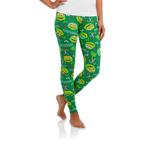 TMNT Juniors' Ugly Christmas Leggings