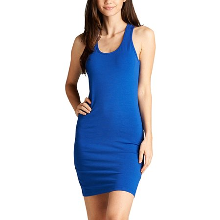 d43d7918933b1 Flying Street - Ladies Sleeveless Raceback Fitted Dress - Walmart.com