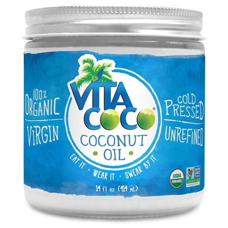 Vita Coco Organic Virgin Coconut Oil, Glass Jar, 14 Fl Oz