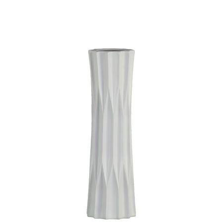 Urban Trends Collection: Ceramic Vase Matte Finish - White Ceramic Vase