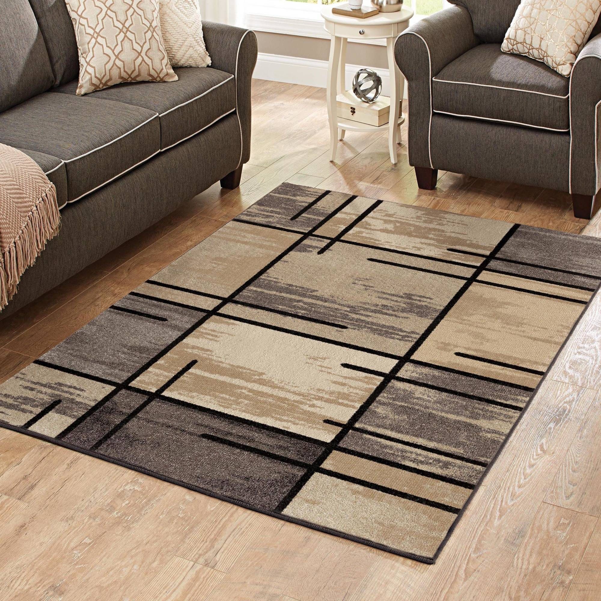 Better Homes And Gardens Spice Grid 3 Piece Area Rug Set Walmart Com
