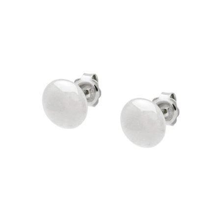 Fronay 125136 11 mm Sterling Silver Flat Ball Stud Earrings - Mirror - image 1 de 1