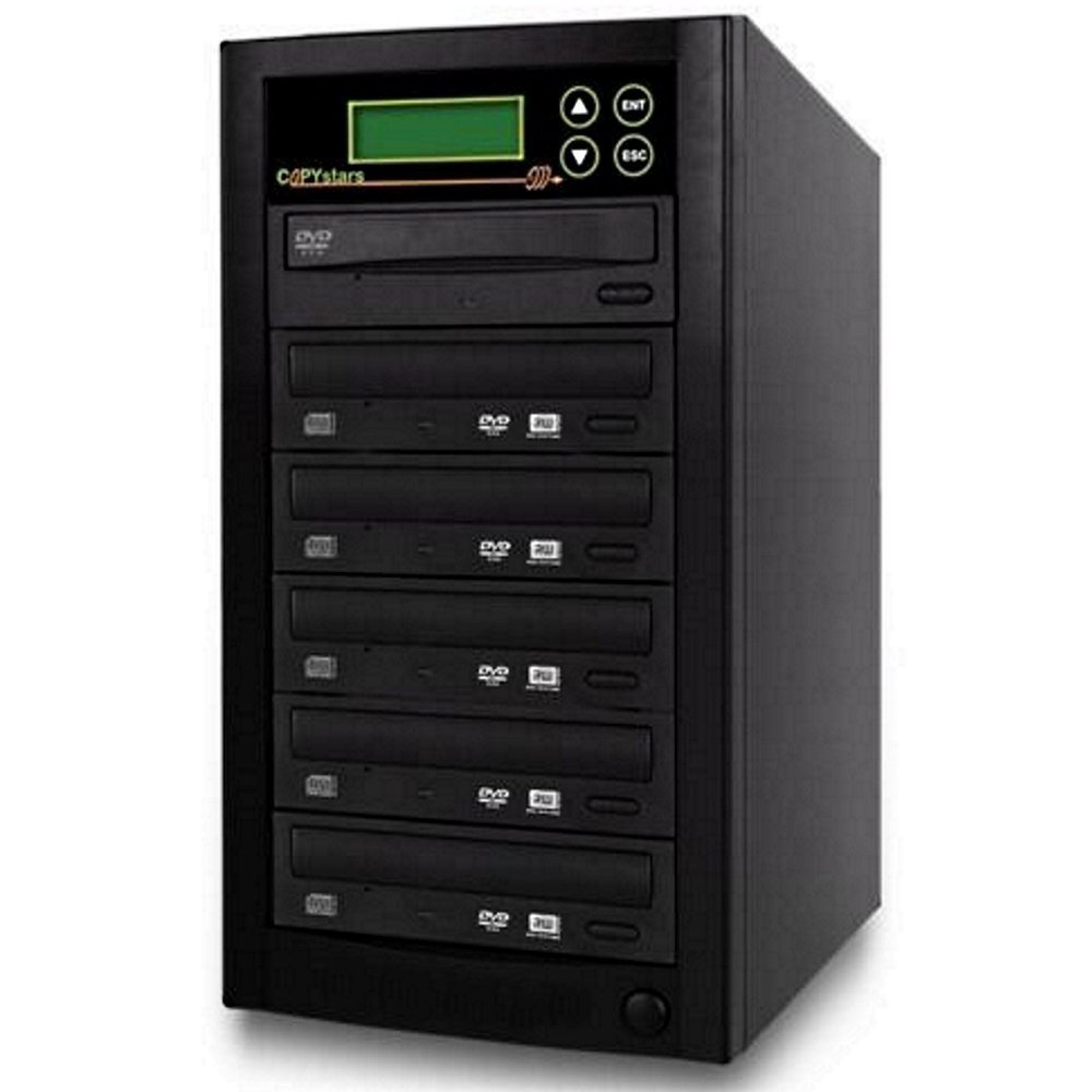 Copystars CD Dvd Duplicator 1 to 5 Sata 24x Asus burner writer DVD copier 128MB buffered tower by Copystars
