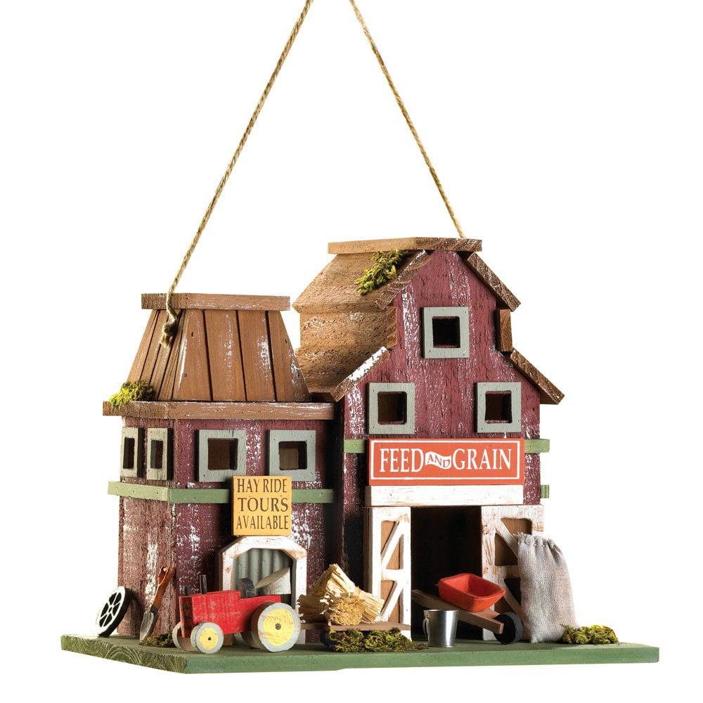 Bird Houses, Rustic Wooden Birdhouses Modern Finch Hummingbird Farms Birdhouse