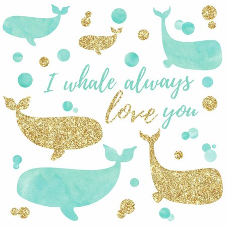 I Whale Always Love You Peel and Stick Wall Decals with - I Whaley Love You