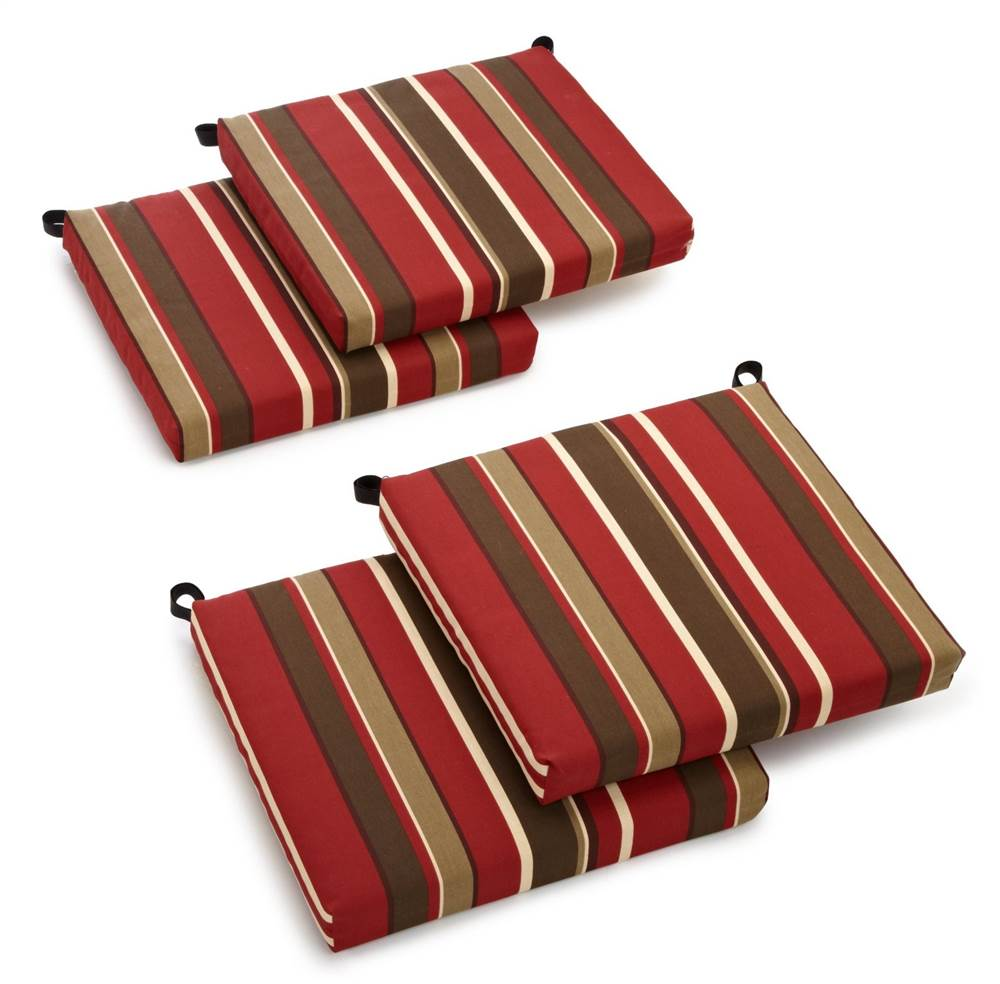Cushion for Outdoor Chair - Set of 4 (Monserrat Sangria)