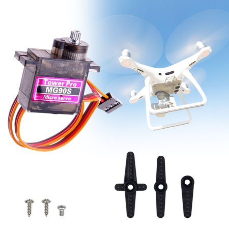 EEEKit MG90S Metal Gear, Micro 9g Mini Digital Servo Geared Motor for RC Helicopter Plane Boat Car