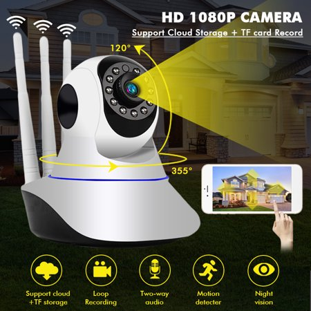 1080P Wireless Wifi Smart IP Camera Home Security Cam Baby Monitor Motion Detection IR Night Light, Two Way