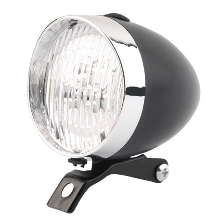 Classic 200LM LED Vintage Bike Headlight Bicycle Retro Head Light Front Fog