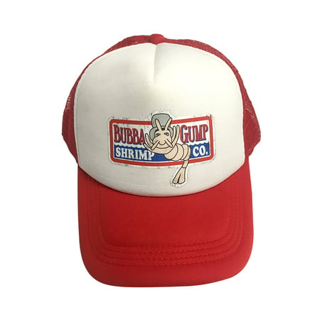 Bubba Gump Shrimp Co. White And Red Trucker Hat Forrest Gump Cap Costume Movie - Forest Gump Costumes