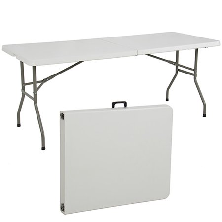 Best Choice Products 6ft Indoor Outdoor Portable Folding Plastic Dining Table w/ Handle, (Best Folding Showers)