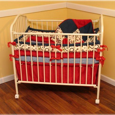 Ozark mountain kids giddy up 4 piece crib bedding set for Mountain crib bedding
