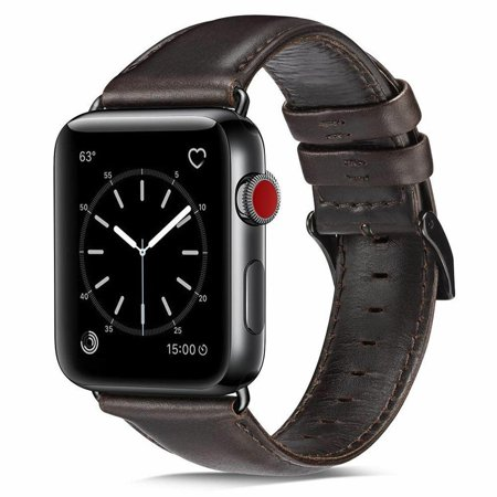 38/42mm Genuine Leather iWatch Band Strap Bracelet for Apples Watch Series 4 3 2