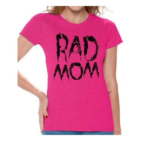 Awkward Styles Women's Rad Mom Graphic T-shirt Tops Vintage Raddest Mom