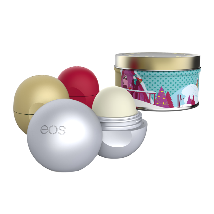 eos Organic Limited Edition Holiday Collection Lip Balm, 3 Pieces ($12 Value)