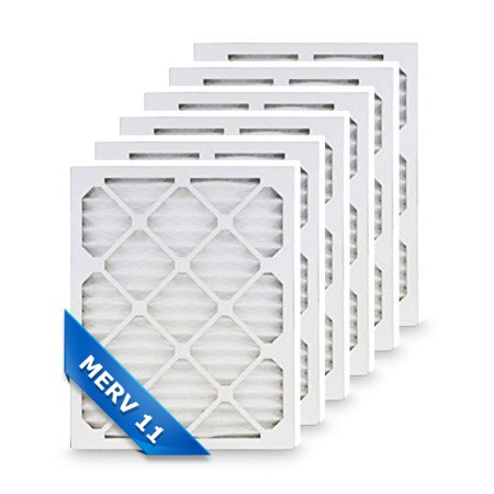 Replacement 20x25x1 One Inch Furnace Air Filter (MPR 1000) Merv 11 100% Made In The USA (6 Pack)