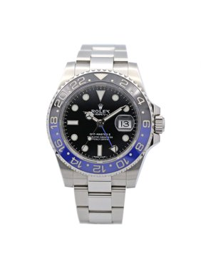 Pre-owned Rolex GMT-Master II Ref# 116710BLNR Batman Stainless Steel 40mm