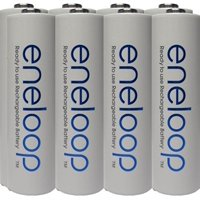 8 Panasonic Eneloop 4th Generation AA NiMH Pre-charged 2100 Times Rechargeable Batteries + Free Battery Holder