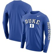 Duke Blue Devils Nike Arch & Logo Two-Hit Long Sleeve T-Shirt - Royal