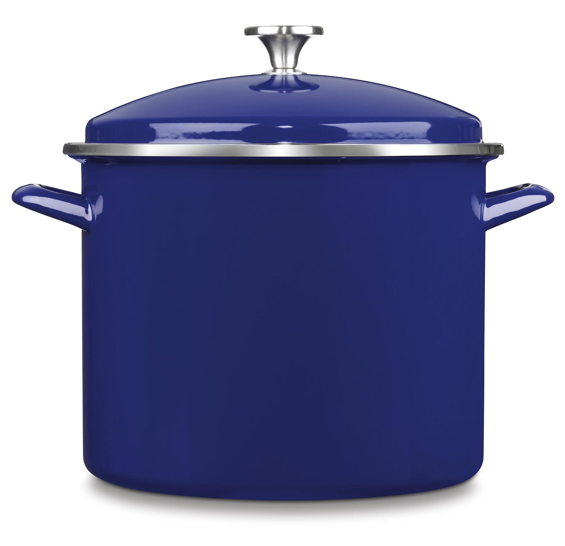 Cuisinart Chef'S Classic Enamel On Steel 12 Qt. Stockpot W/Cover - Cobalt Blue