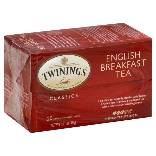 Twinings of London English Breakfast 20 ct Tea Bags 1.41 oz. Box