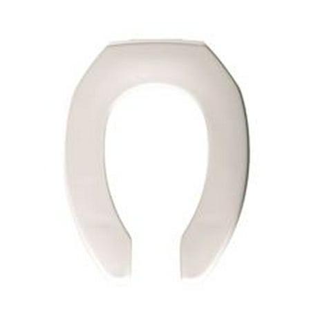 Fire Retardant Antimicrobial White Elongated Plastic Toilet Seat