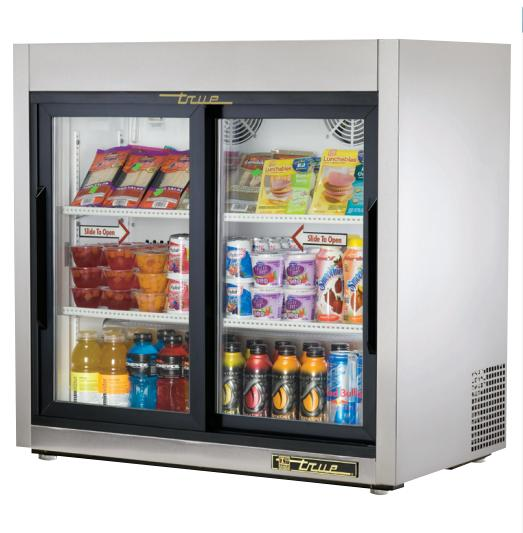 "True TSD-9G - 36"" Glass Sliding Door Refrigerator"