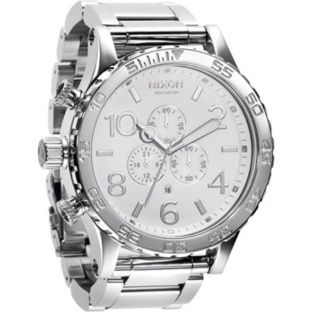 Men's 51-30 Chrono A083488 White Stainless-Steel Quartz - Large Chrono Watch