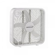 Brentwood F20SW 20 in. Slim Compact 3 Speed High Velocity 5 Blade Box Fan, White