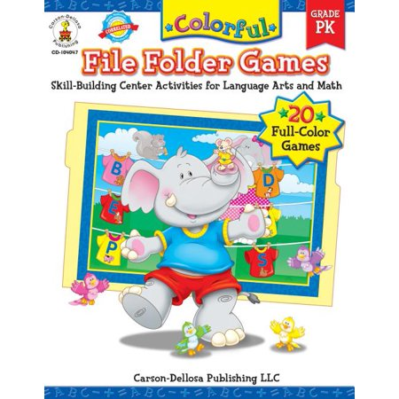 Colorful File Folder Games, Grade PK : Skill-Building Center Activities for Language Arts and Math
