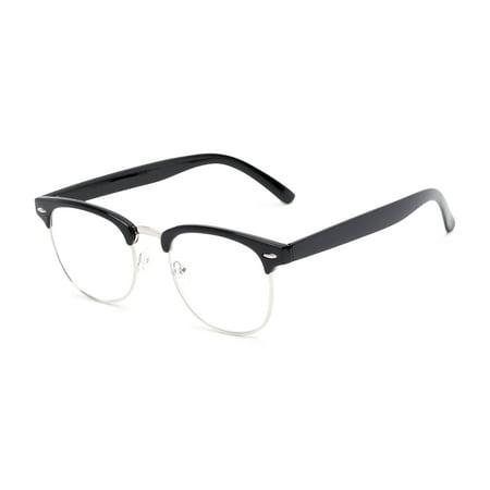 Readers.com Reading Glasses: The Jet Setter Reader, Titanium Browline (Browline Glasses For Women)