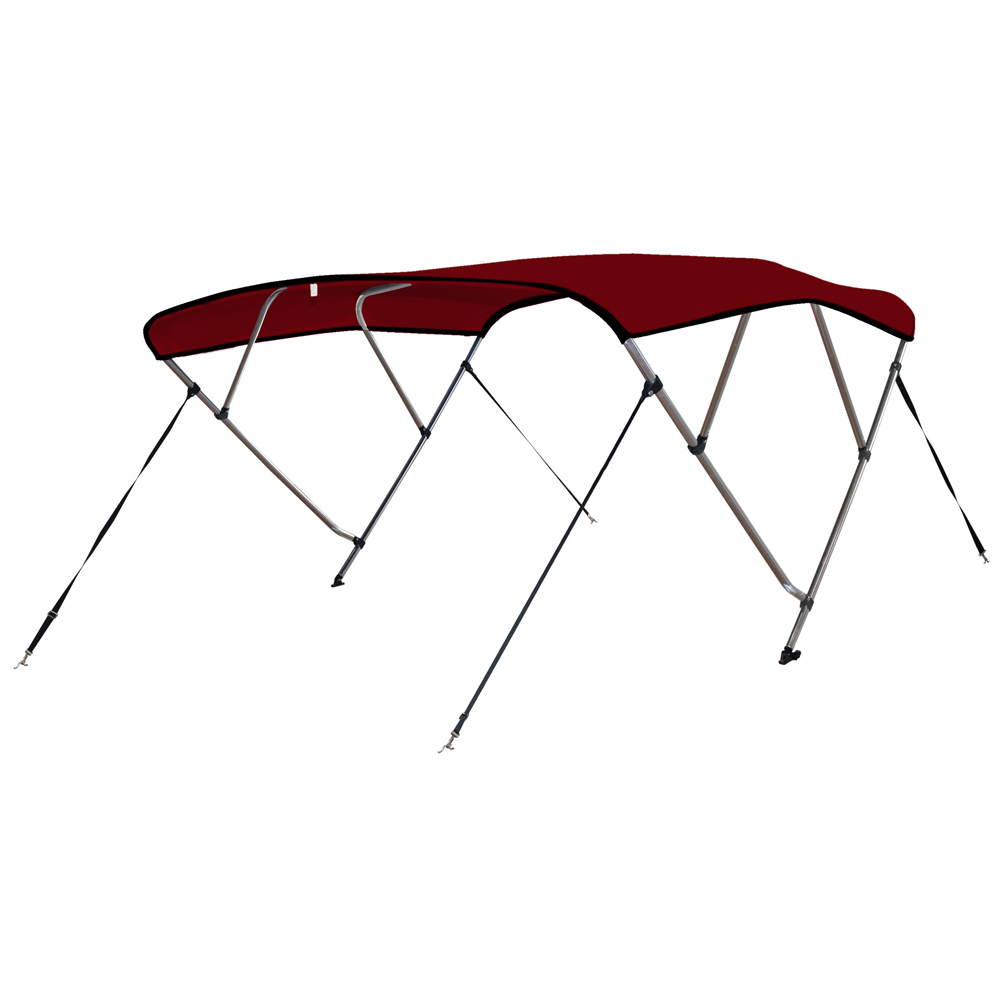 Leader Accessories 12 Colors Available 4 Bow Bimini Boat Tops Includes Hardwares with 1 Inch Aluminum Frame