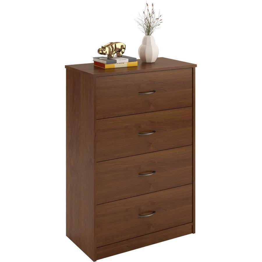4 Drawer Dresser Chest Bedroom Furniture Black Brown White