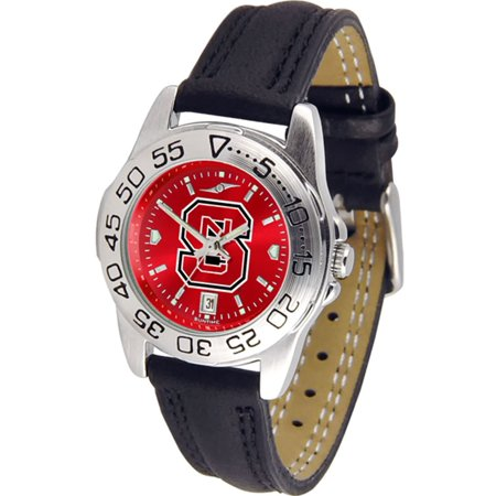 North Carolina State Wolfpack NCAA AnoChrome Sport Ladies Watch (Leather Band)