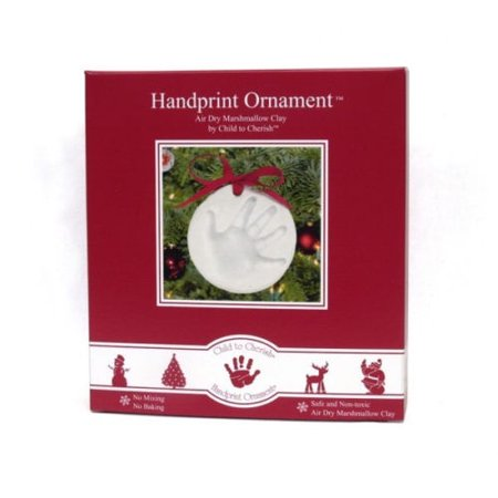 Child to Cherish Marshmallow Clay Handprint Ornament