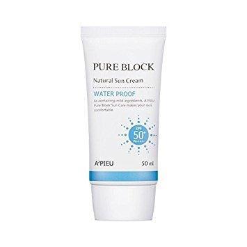 [ A'pieu ] Pure Block Natural Sun Cream ( Waterproof Sun Cream ) by A'pieu
