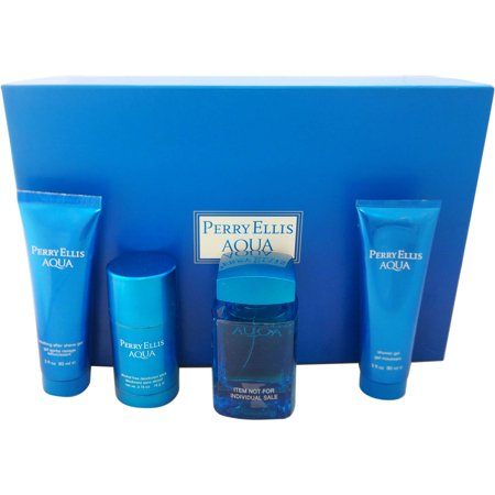 Perry Ellis Perry Ellis Aqua For Men Gift Set  4 Pc