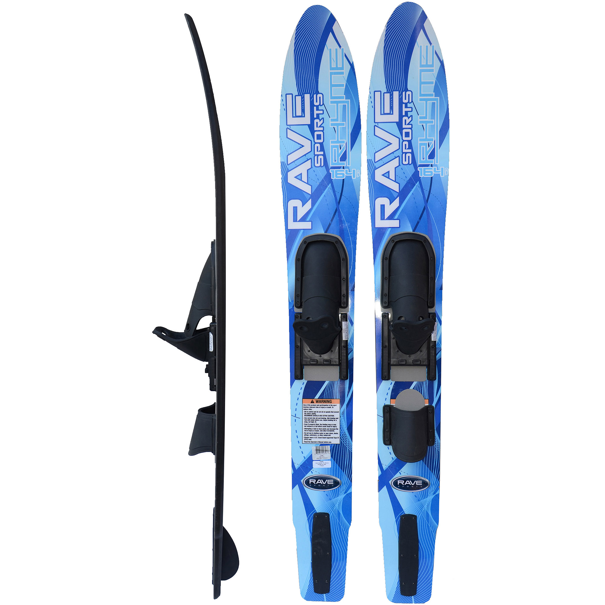 Rave Sports Adult Rhyme Shaped Combo Water Skis by Rave Sports