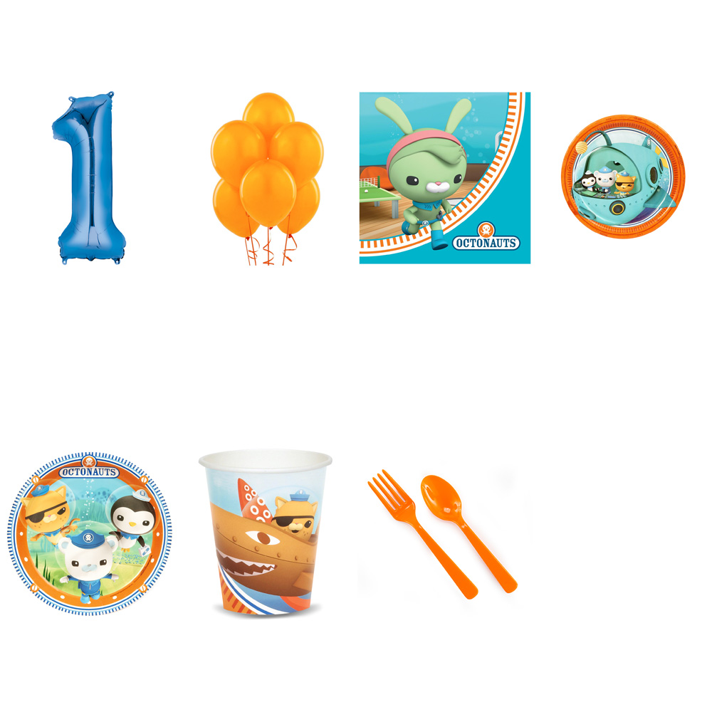OCTONAUTS PARTY SUPPLIES PARTY PACK FOR 32 WITH BLUE #5 BALLOON