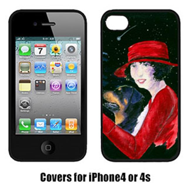 Carolines Treasures SS8551IP4 Lady Driving With Her Rottweiler Iphone4 Cover - image 1 of 1
