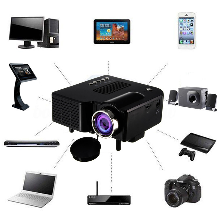Full HD 1080P Multimedia Home LED Theater Mini Projector with HDMI, AV, VGA Inputs Entertainment Projector On Sale