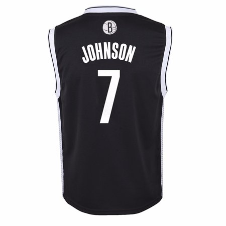 Joe Johnson Jersey - Joe Johnson Brooklyn Nets NBA Adidas Black Official Road Replica Basketball Jersey For Toddler (2T)