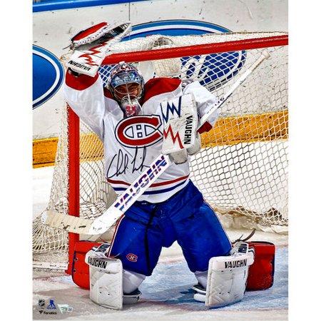 Charlie Lindgren Montreal Canadiens Autographed 16   X 20   Glove Save Photograph   No Size