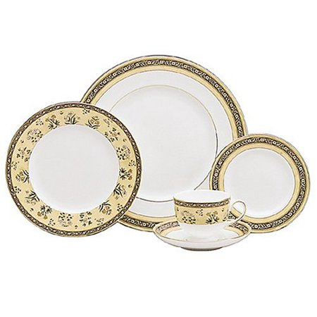 Wedgwood India 5-Piece Dinnerware Place Setting, Service for