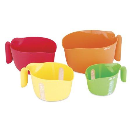 Allrecipes 4 Piece Nested Prep Essentials Mixing Bowls  Multicolor