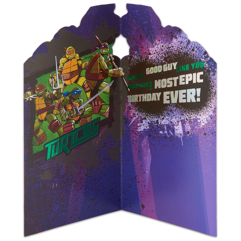 Teenage Mutant Ninja Turtles Birthday Card with Foil Walmartcom