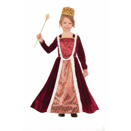 Royal Medieval Queen Red Renaissance Princess Dress Fairy Tale Girls Costume