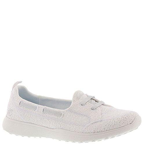 Skechers Sport Women's Microsburst Gentle Gauze Sneaker,White,8 M US