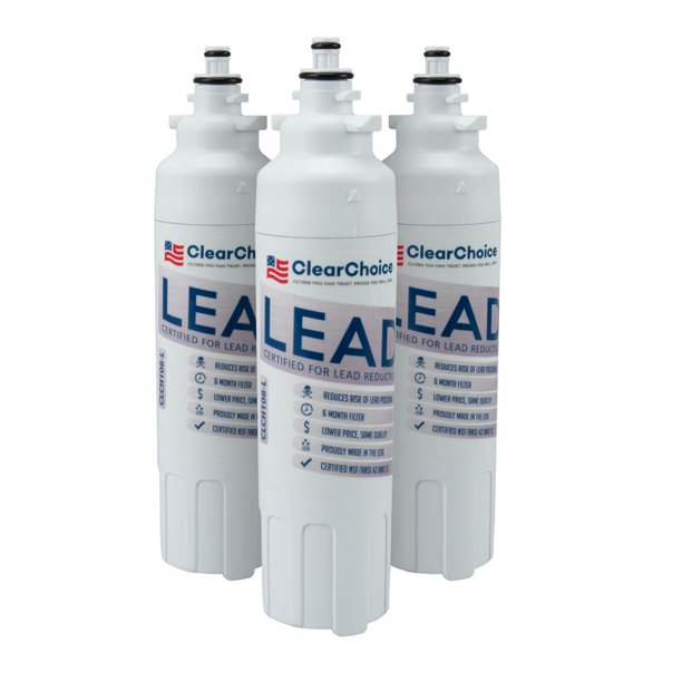 Clear Choice Lead Filter Replacement For Lg Lt800p Adq32617703 Adq32617801 Filter Compatible With Rwf1160 Rwf3500a Wf 1040a Bm Lp8 Refrigerator Water Filter Nsf Certified Box Of 3 Made In The Usa Walmart Com